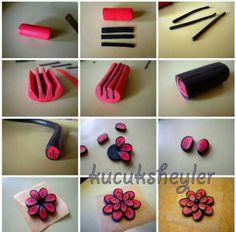 Pink flower cane