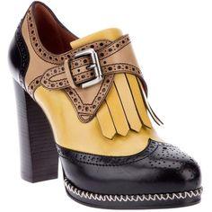 SANTONI high heel brogue ($690) ❤ liked on Polyvore