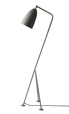 Grasshopper Lampe blaugrau Dusty Blue, Lighting Design, Floor Lamp, Light Fixtures, House Design, Flooring, Vintage, Living Room, Furniture