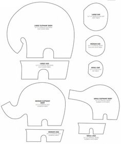 How to make the elephants.  DIY step-by-step tutorial. http://www.handmadiya.com/2015/05/elephantastic-how-to-make-elephants.html