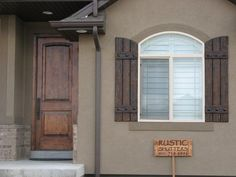 Rustic shutters