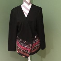 Black Blazer If pinks are in your closet - you need this jacket! It's the perfect thing to add a layer to dress up your look or add some warmth! Coldwater Creek Jackets & Coats Blazers
