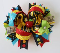 Back to School Hairbow Over the Top with by SaraOlsenDesigns
