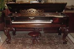 Steinway & Sons Rosewood Square Grand Piano | The Antique Piano Shop