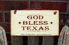 """Texas Sign """"God Bless Texas"""""""