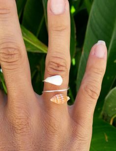 Items similar to Seashell Sterling Silver Wrap-Around Ring,Hawaii beach jewerly, Ocean, Surf on Etsy