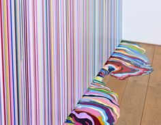 Ian Davenport He used a syringe to inject the canvas. I first saw him at the Tate Modern Museum in London. I love his simplistic approach.