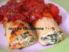 Recette 100% Tunisienne: Pates Tunisian Food, Cooking With Olive Oil, Arabic Food, Coriander, Spicy, Pork, Pasta, Dishes, Meat