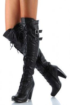 Cute thigh high boots.