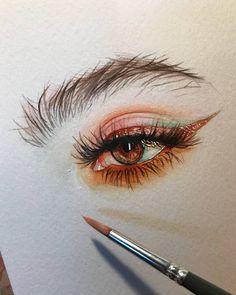 Акварель портрет en 2019 dibujos, dibujos de ojos y dibujos con acuarelas. Portrait Au Crayon, Pencil Portrait, Portrait Art, Eyes Artwork, Arte Sketchbook, Sketchbook Ideas, Eye Art, Art Inspo, Art Sketches