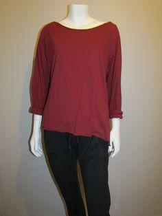 Lagenlook top 785 wine Normcore, Wine, My Style, Sweaters, Tops, Fashion, Moda, Fashion Styles, Sweater