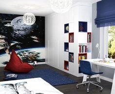 Fototapete Weltall und Raumschiff im Jungenzimmer
