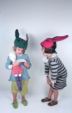 Waddler knits, Django Moccasins, Wovenplay Doll and Animalesque Headdresses // poppyscloset.com #gifts #Kids #animalesque