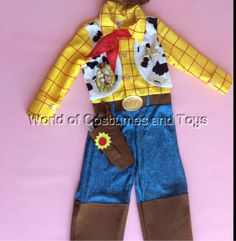 Toy #story woody costume & hat & sheriff #badge age 2/3 #years,  View more on the LINK: http://www.zeppy.io/product/gb/2/381512646186/