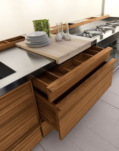 Design linear custom solid wood kitchen ONLY-ONE by Riva 1920 | design Terry Dwan @riva1920