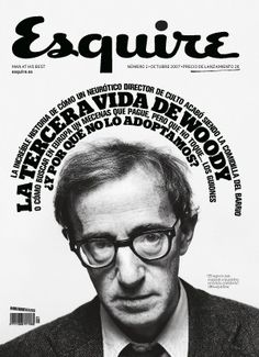 Woody Allen Esquire Cover  Symmetrical Balance, Vertical Axis  Almost a mirror image!