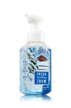 With soothing Aloe and nourishing Vitamin E, your hostess can keep her hands smooth and lightly scented with Bath & Body Works' Fresh Sparkling Snow Foaming Hand Soap. #holidays2014 #hostessgifts #handsoap