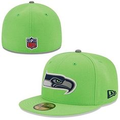 b2dab05b3 NEW ERA NFL 59FIFTY ONFIELD Seahawks Flat Erim Reflective Logo  amp  Base Fitted  Cap