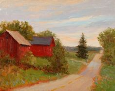 Ribbon Road by Kathleen Kalinowski Oil ~ 8 x 10
