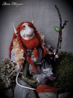 Your place to buy and sell all things handmade Forest Creatures, Magical Creatures, Troll Dolls, Fairy Dolls, Viking Art, Norse Mythology, Felt Toys, Goblin, Vikings
