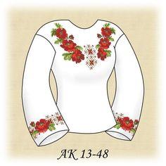 Заготовка к вышиванке женской Яркие маки АК 13-48 Д