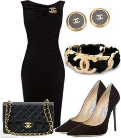 LBD with Chanel Accessories - - Chanel little black dress and all of the chanel/Jimmy Choo goodies to go with it 🙂 Source by xuanlantran Mode Outfits, Fashion Outfits, Womens Fashion, Fashion Trends, Dress Fashion, Dress Outfits, Maxi Dresses, Dresses 2013, Party Outfits