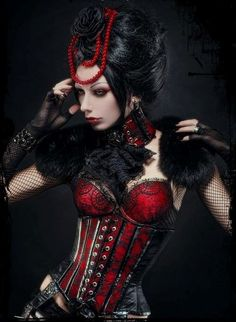 Incredibly beautiful. Black and red Gothic  Fashion