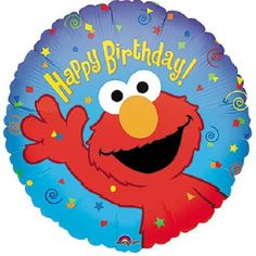 "Anagram 17 inch Elmo™ Birthday Foil Balloon Get everyone's favorite furry red muppet Elmo to show up in your party through our Elmo Foil Balloon. Surely he'll get everyone singing ""La la la la, Elmo's song"" in no time! Match this with other balloons to create an eye-catching balloon bouquet. It's ideal for your Elmo or Sesame Street party theme.    QUALITY PRODUCTS ALWAYSOUR PRODUCTS ARE 100% AUTHENTIC & GENUINE100% OF THE TIME  Foil balloons make decorating for your party easy and..."