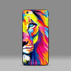 Lion on fire Leo the King Mufasa Simba rainbow by luxendary