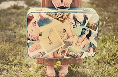 Suitcase Pattern / 35 New Uses For Old Newspapers And Magazines (via BuzzFeed)