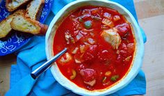 Tart preserved lemons, buttery Castelvetrano olives and crunchy fennel round out a broth based on whole canned tomatoes.