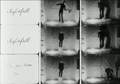 Bas Jan Ader, Nightfall film transferred to DVD. Courtesy of Patrick Painter, Los Angeles. Contemporary Photography, Contemporary Art, Modern Physics, Pie In The Sky, Ader, Film Stills, Film Photography, Art Day, Painting & Drawing