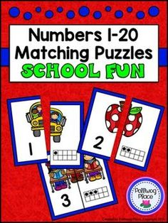 Number Matching Puzzles with Ten Frames - School Fun {Numbers 1-20} ($)