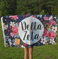 Delta Zeta Floral Flag by NowGreek on Etsy                                                                                                                                                     More