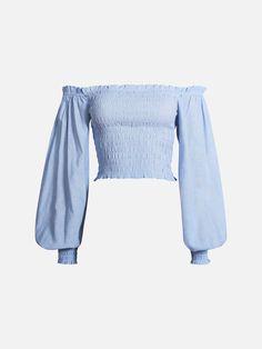 Daisy bluse | 7220386 | Blå | BikBok | Norge