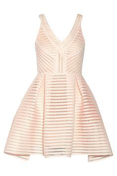 Maje - Rayure mesh-striped jersey mini dress