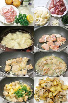 鶏のニンニク炒め手順