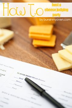 How To Host A Cheese Judging Party recipe