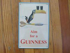 GUINNESS AIM FOR A GUINNESS GUINNESS TIN SIGN #Guinness #MiniTinSign