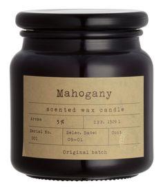 Doftljus i glasburk | Svart/Mahogany | Home | H&M SE