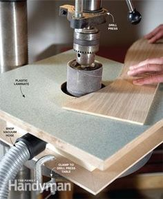 Drum sander table in action 1