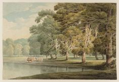 Artwork page for 'In Kensington Gardens', Francis Towne, 1797 Watercolor Landscape, Landscape Art, Master Studies, Contemporary Abstract Art, Garden S, Romanticism, Topiary, Regency Era, Cymru