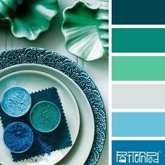 Scheme Color, Color Schemes Colour Palettes, Blue Colour Palette, Color Palate, Color Combos, Teal Blue Color, Blue Paint Colors, Colours, Neon Purple
