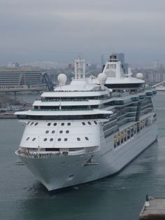 @Royal Caribbean International @MyRoyalUK Brilliance of the Seas leaving #Barcelona. #cruise #travel