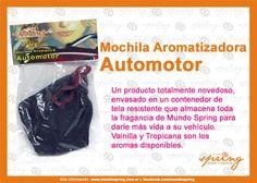 Pack Mochila Aromatizadora