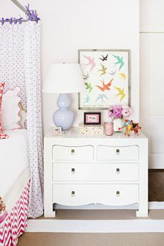Artwork is a fast and often cost-effective way to add personality to a space, especially a teenager's bedroom.