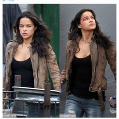 Michelle Rodriguez behind the scenes. #Letty #fast6