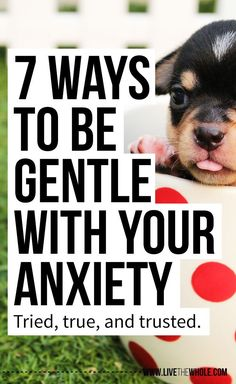Acute anxiety and stress is one of the worst feelings in the world. Here are 7 gentle ways to help yourself get through difficult emotional times. Click to learn how.