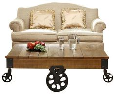 Homelegance завод Прямоугольные Чайный столик с Iron Ведущие традиционном кофе-таблиц
