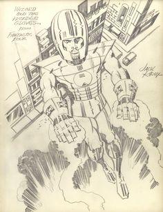 Wingless Wizard pencil sketch by Jack Kirby